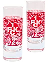 Brauns 1. FC Kaiserslautern Schnapsglas 2er-Set, transparent, 18057