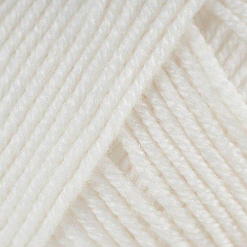 Sublime Wolle Baby-Kaschmir, Merino-Seide, 4-fädig, 50g, in verschiedenen Farben erhältlich weiß (Extra Weiche Wolle-mischung Garn)
