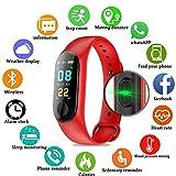 PAWACA Schermo a Colori Fitness Tracker, Activity Tracker con frequenza cardiaca/Sleep Monitor, IP68Impermeabile pedometro Orologio con contatore di Calorie per Bambini Uomini e Donne, Android iOS