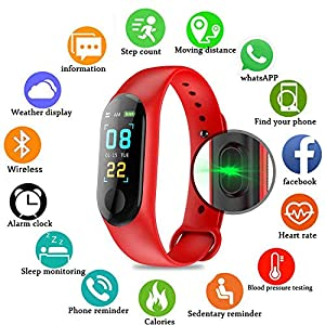 Pulsera inteligente/rastreador de fitness, pantalla de color HD IP68 impermeable M3 Plus pulsera de seguimiento de… 5