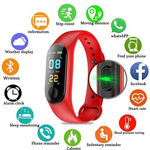PAWACA Fitness Armband mit Pulsmesser, Wasserdicht IP68 Fitness Tracker 0,96 Zoll Farbbildschirm Aktivitätstracker Fitness Uhr Smartwatch,Schrittzähler Uhr für Damen Herren