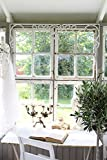 Jeanne d´Arc Fenster Fries Fensterfries vintage shabby chic antique metall weiß