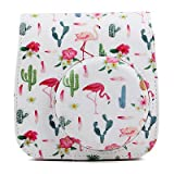 #3: Brighten Your Eyes Store Flamingo Pu Pouch Camera Bags with Strap Protector Cover Fujib002