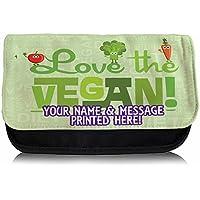 Personalised I Love Vegan St251 Pencil Case / Make-up Bag / Glasses Medication Carrier
