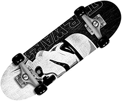 Stamp Star Wars Skateboard niño, negro