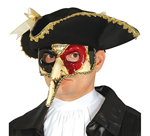 Guirca Venezianische Maske mit Langer Nase Mehrfarbig Erwachsene Halbmaske Fasching Party (Maske Nase Lange Venezianische)