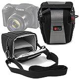 Sacoche pour Canon PowerShot SX420 IS appareil photo Bridge - en noir / gris, boucle...