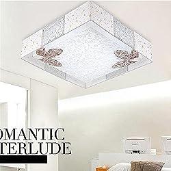 Lilamins Lámpara de techo Led luces propietario del matrimonio infantil dormitorio habitaciones son lámparas de luz para iluminación Salón?Office , baño, cocina, pasillo, empotrado en el techo, luces de 490mm cuadrados