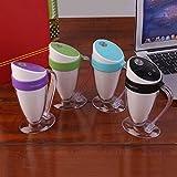 Hermosairis LED Licht Luftbefeuchter Moonlight Cup USB Luftbefeuchter Ätherisches Öl Diffusor Ultraschall Hause Luftbefeuchter Nebel Maker Fogger