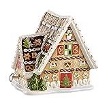 Villeroy & Boch Christmas Toys Lebkuchenhaus, mit Spieluhr, aus Hochwertigem Porzellan, 16 x 13 x 16 cm, in Weihnachtlicher Geschenkverpackung
