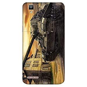 Mobo Monkey Designer Printed Back Case Cover for Oppo F1 :: A35 (Tank :: Army :: Weapon :: War :: Fighter)