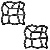 SAILUN® 2 x Betonform Pflastermacher Gießform für Garten Gehwegen Trittsteinen DIY Schalungsform (2 Stücke - Unregelmäßig)