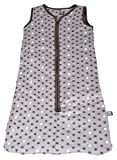 Baby Schlafsack mit Reißverschluss Babyschlafsack ohne Ärmel Sterne Muster Grau IW051