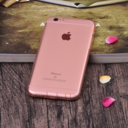 Infinite U Jewellery Transparent Souple TPU Gel Case/Coque/Etui de Téléphone Mobile pour iPhone 6/6s (4.7 Pouces) Femme Colour-3Cover