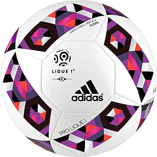 Pro Glider (adidas Herren Pro Ligue 1 Top Glider Ball Fußball, White/Solar Red/Shock Pink S16/Unity Purple F16, 4)