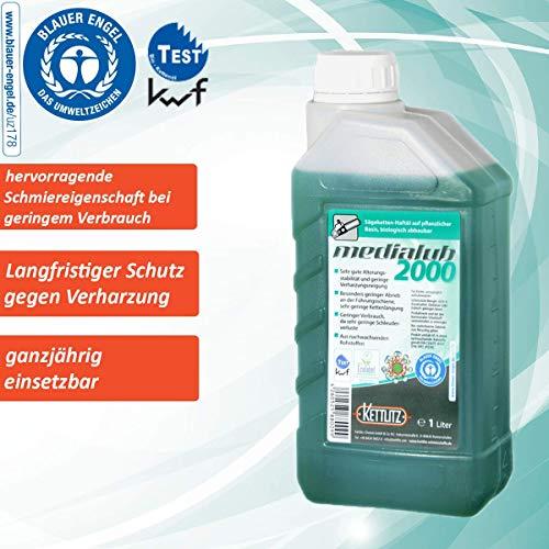 """Sägekettenöl Bio 1 Liter KETTLITZ-Medialub 2000""""Blauer Engel"""" nach neuester RAL-UZ 178"""