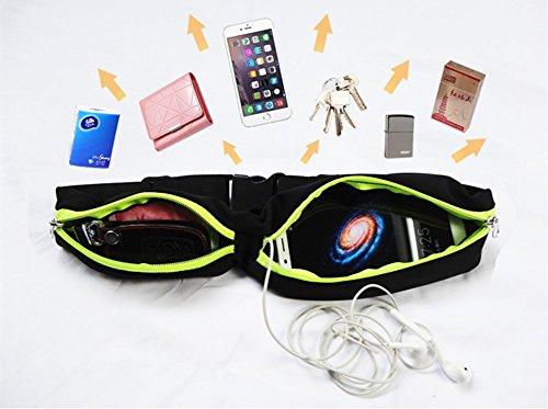 lifenewbaby Wasserdichter Running Gürtel Waistpack Gürteltasche–Fanny Pack versteckte Handytasche Gürteltasche Tasche für Gym Outdoor Sport Rose