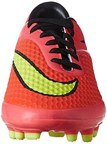 Nike HYPERVENOM Phelon FG, Chaussures de Football homme Rouge (Bright Crimson/Volt-Hyper Punch-Black 690)