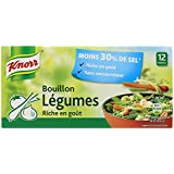Knorr Bouillon Légumes Réduit en Sel 12 Cubes 109 g
