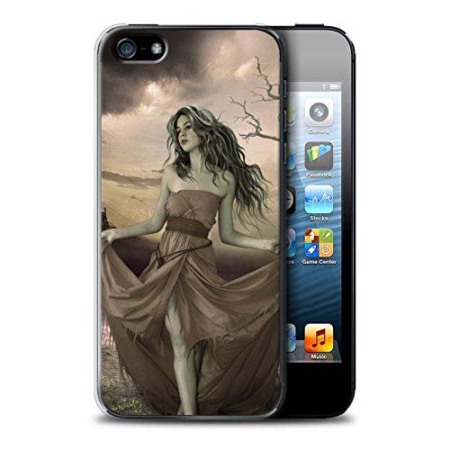 Officiel Elena Dudina Coque / Etui pour Apple iPhone 5/5S / Cheveux Dorés Design / Caractère Conte Fées Collection Notre Dame