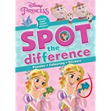 Disney Princess Spot the Difference: Includes Super Reward Stickers! (Spotthedifference Puzzle Fun)