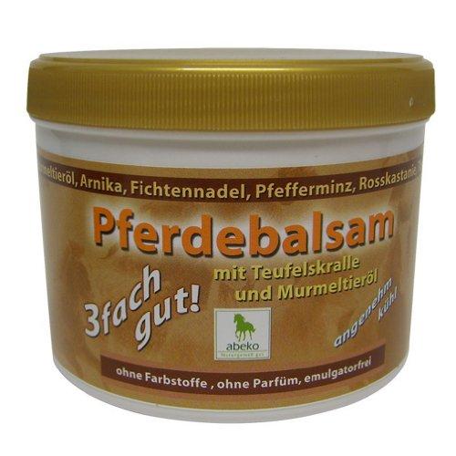 2 Dosen Tiegel abeko Pferde Balsam mit Teufelskralle & Murmeltieröl 500 ml