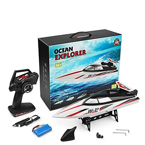 Link Co Fernbedienung Boot 2,4 GHz Fernbedienung Boot für Pool und Seen Elektrische RC Boot 180 Grad Auto Flip Recovery High-Speed-Fernbedienung Boot Spielzeug