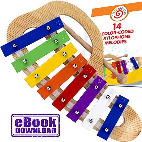 Oval mehrfarbig Xylophon 8 Töne musikalisches Spielzeug für kleine Kinder