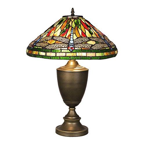 y Style, Tiff105, Tischlampe Libelle, Dekorationslampe, Tiffany Style, Glaslampe, Leuchte,Tischlampe, Stehleuchte, Stehlampe, Leuchte Lampe ()