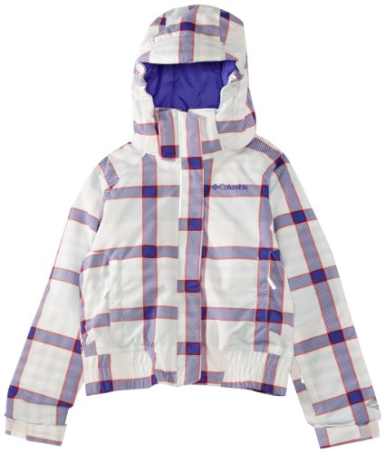 Columbia Kinder Skijacke Pretty Peak Bomber Jacket, sea salt plaid, XXS, WG2073 Plaid Salt