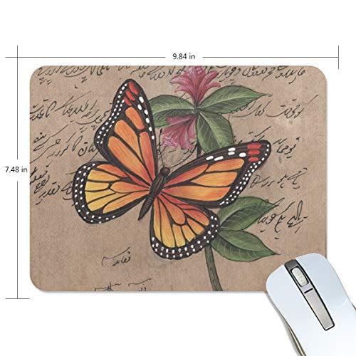 FANTAZIO Mauspad Schmetterling in Flight Dicke Computer-Tastatur-Mauspad Anti-Rutsch-Gummi Unterlage Mauspad für PC Gaming oder Arbeiten