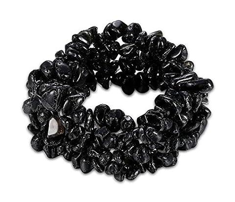 Amethyst/Turquoise/Rock Crystal Bracelet Quartz Healing Chakra Crushed Gemstone Chips Chunky