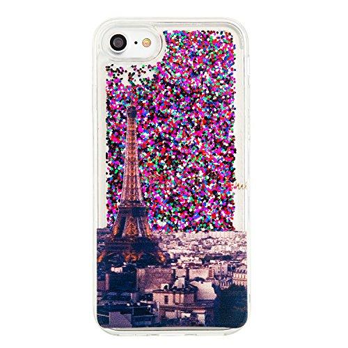 iPhone 7 / iphone8 (4.7 Zoll) Hülle,Silikon Hülle für iPhone 7 (4.7 Zoll) , für iPhone 8 (4.7 Zoll) Glitzer Hülle Regenbogen,Luxus Glänzend Glitzer Schutzhülle Bling Strass TPU Silikon Hülle für Apple 7
