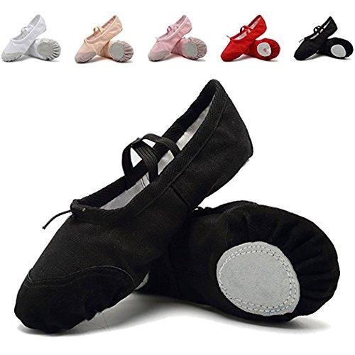 DoGeek Gute Qualität Ballettschuhe weich Spitzenschuhe Ballet Trainings Schläppchen Schuhe für Mädchen/Damen in den Größen 22-40