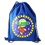 Personalised Boys Swimming Bag, Outer Space Theme, Blue Swimming Bag, Back to School Present, Gym Bag, Rocket Gifts, Kit Bag