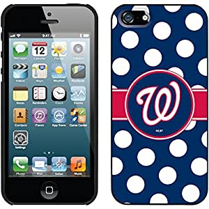 Washington Nationals - Polka Dots design on a Black iPhone 5s / 5 Thinshield Snap-On Case by Coveroo