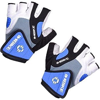 Inbike 5mm Gel Padded Half Finger Cycling Gloves Bike Bicycle Gloves For Biking(blue,m) 1