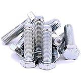 M14(14mm x 50mm) Sechskant Schrauben (Vollgewinde Wirbel)–Stahl (Pack von 10)