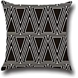 fundas de almohada ihrkleid negro de color blanco cojn almohada geometra cross flecha wave dot
