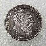 DDTing Pièce de Monnaie Allemande Ancienne 1907 - Pièce commémorative Allemande de Baden 2 Marques - Pièce commémorative Allemande....
