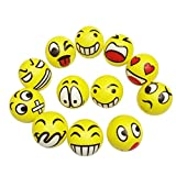 Lalang 12pcs Emoji Face Squeeze Balls, Relieves Stress And Anxiety Funny Toys for Children and Adults