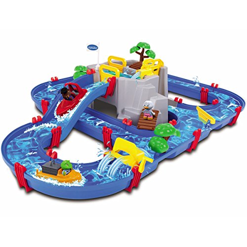 Mountain Lake 1542 inklusive 2 Booten, 3 Spielfiguren, Pumpe, Bäume, uvm. • Wasserpielbahn Wasserbahn Wasserspiel Wasserstrasse Spielzeug Set Kind