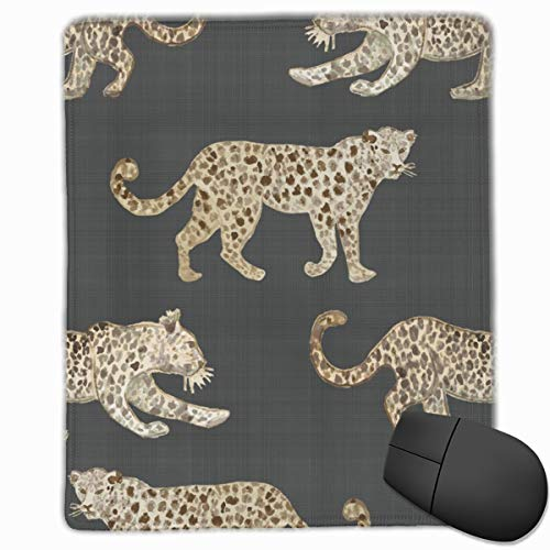 Leopard Parade BrownBlack Mouse Pad Custom Design Gaming Mouse Mat Computer Mouse Pads with Non-Slip Neoprene Backing 9.8 X 11.8 inch (25 X 30 cm) - Parade Leopard