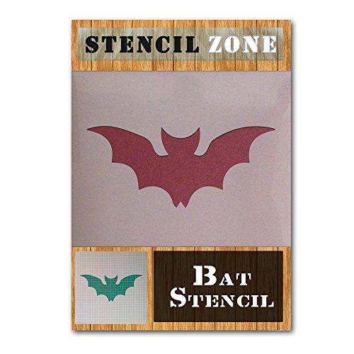 Bat Halloween Mylar Malerei Kürbis-Wand-Kunst-Schablone Zwei (A6 Größe Stencil - XXSmall) (Schablonen Halloween Große)
