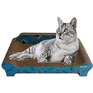 HERITAGE CARDBOARD B84 FISHBONE SOFA CAT SCRATCHER SCRATCHING BED PAD SOFA  LOUNGE U0026 FREE CAT NIP