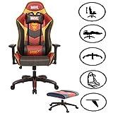 Fauteuil de jeu, chaise E-Sports, chaise d'ordinateur, chaise longue, Environnements de film, Captain America / Iron Man / Spiderman avec support de pied vidéo, chaise de jeu de course Iron Man