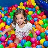Kidsbay Premium Pool/Pit/Ocean Balls Without Sharp Edges, 8 cm Diameter (Multicolour)