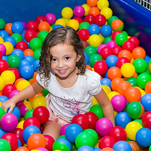 Kidsbay Mvj Creations Pool/pit /Ocean Balls, 8 cm Diameter (Multicolour)- Set of 50