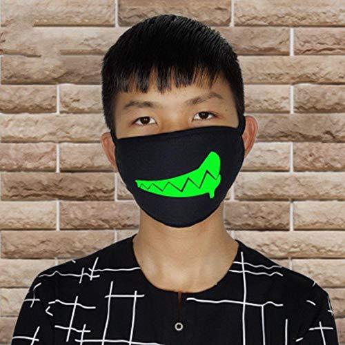 Anti Kostüm Zombie - ZXIU Masken für Kostüme Cartoon Gesicht Mund Masken Unisex Party Leucht Masken Dekor Radfahren Anti-Staub Staubdicht Mund Gesichtsmaske