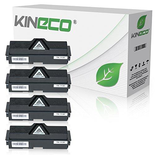 2530 Kopierer (4 Toner kompatibel zu Kyocera TK1130 ECOSYS M-2030 DN PN 2530 DN FS-1030 1130 MFP DP - 1T02MJ0NL0 - Schwarz je 3.000 Seiten)